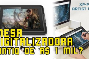 Mesa Digitalizadora XP-Pen Artist 10S. Uma Cintiq barata? Review e Unboxing