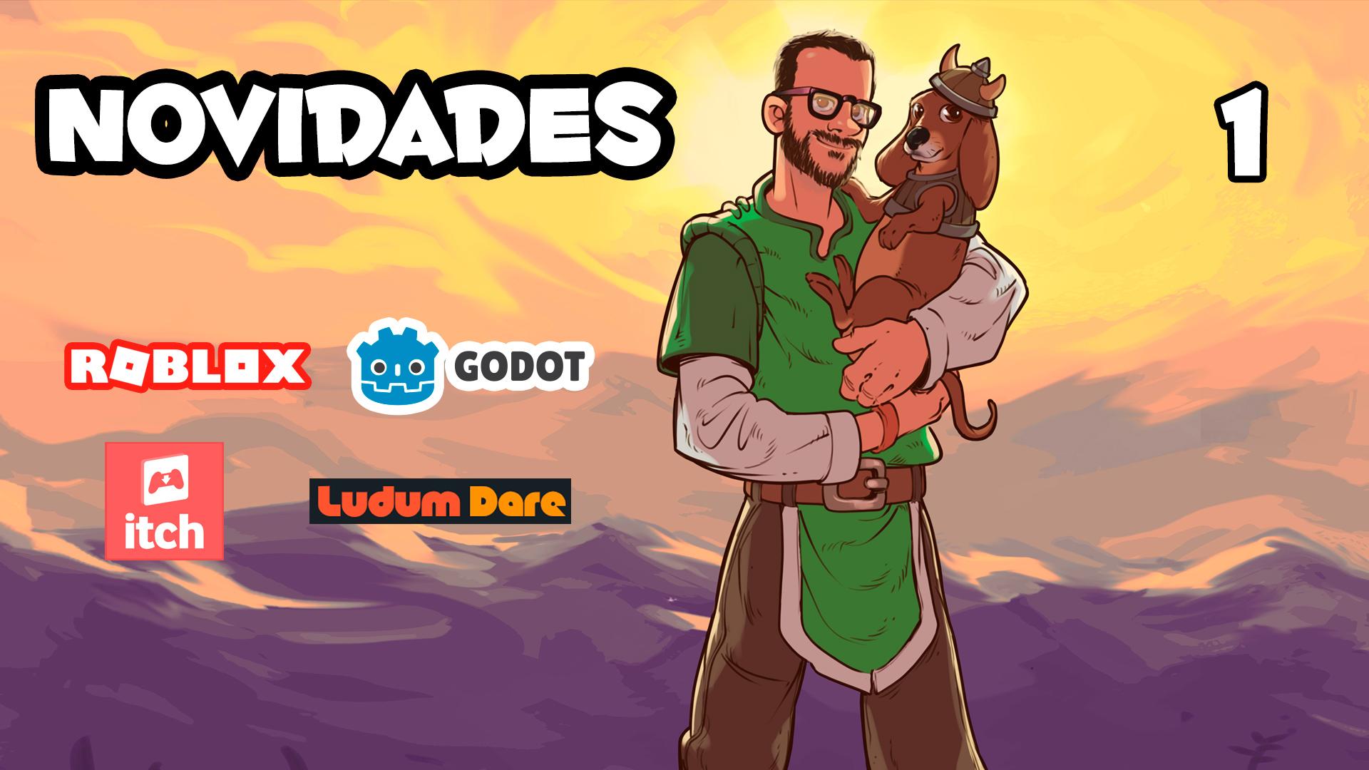 Educador Roblox Oficial, Curso Avançado Godot, Documentário Ludum Dare, 1500 Jogos – Novidades Cria Jogo